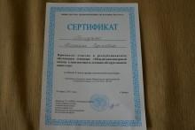 Сертификат Якубчик (Богодяж) Татьяна Сергеевна 2