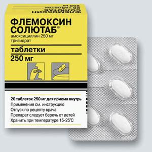 Флемоксин, или флемоклав, антибиотики выбора во время ангины