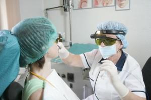 лечение хронического тонзиллита лазером