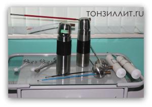 Лечение миндалин жидким азотом