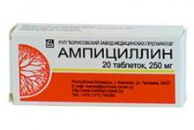 Лечение ангины Ампициллином