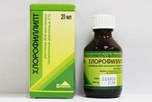 Использование Хлорофиллипта при лечении ангины